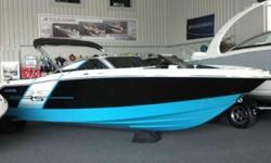 Incredible look, Very spacious extremely roomy Large Swim platform Walk thru transom Reverse stern seats for easy relaxation Stereo Tilt wheel Custom Trailer With an electric color-scheme and no detail overlooked, this sporty Horizon is perfect for those