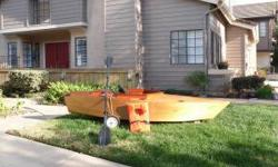 Beautiful Hand Crafted 10' Kayak/Boat. Constructed of solid oak and mahogany ply. Great on the water and fishing. Includes