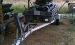 10' pelican bass raider 10e, two new camo seats,30 pound minnkota endura trolling engine,batt box been in water four times call 760-500-7336 for details or pics emails will not be answered or trade for what ya got? trailer not includedListing originally