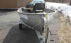 with swivel seats and rebuilt transom and Cox Trailer with new tires and wheel including new spare and new bearings and new wires and lamps, Boat and Trailer are both registered, $550. (860) 582-2069 Bristol, CTListing originally posted at http