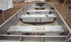 I have 1946 14 ft. alumacraft with tilt bed trailer, in attractive shape just needs soap an water lol for $550.00 obo willing to trade for truck or camper ,,, please call only, i don't know how to text ok. 715-530-4175 an thanks for reading this...i do