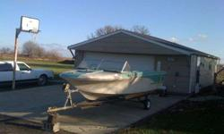 Cool Barn Find! 1960's fiberglass Glastron. This boat has been stored in a barn for the last 25+ years. Buried under a thick layer of dust is a cool old fiberglass boat. Boat has no motor, but has the cables. Built in gas tank, (appears to be about a ten