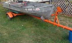 12ft v nose sears aluminum boat with a 5 1/2 horse johnson motor, trailer included. See pics attached. Call 256-261-9302 if interestedListing originally posted at http