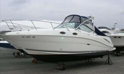 2007 Sea Ray 270 AMBERJACK This well equipped 270 Amberjack is the perfect compliment of fishing and cruising. Well appointed with the 6.2L Mercruiser Bravo III, fishing package with livewell and bait prep station, aluminum arch with rocket launchers and