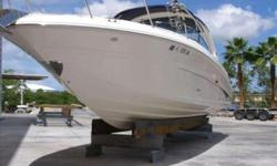 """2005 Sea Ray 290 SUN SPORT Very Low Hour 290 Sun Sport with only 275 Hours. The Cabin Has V-Berth with Filler Cushions to accomadate ( 2 ) Adults, Cherry Wood Finish with Molded Solid Surface Countertop. Dock Side Air Conditioning with Microwave Oven, 9"""""""