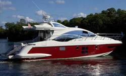 2008 Azimut 43S BRAND NEW TO THE MARKET! . . . Beautifully kept, dry stored inside. Bright red with only 330 low hours on up-graded 435 HP, Volvo IPS 600's. Turns heads wherever she goes. MAKE IT YOURS! . . . For more information please call