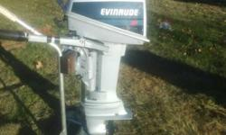 excellent running motor starts easy, idles very low for trolling. this motor has very low hours on it it was pre-owned on a larger boat as a kicker motor. this motor has only been pre-owned on wisconsin freshwater lakes. it is hard to find such a clean