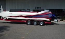 2001 Eliminator Daytona 26 (measures 27ft)Custom TrailerBoats will move over when the see you coming this MachineVery Clean, Extremely well maintained$58,000 468 cubic inch big blockBecks racing engineXR Drive770HPBM blower 8lb Pully 142 hours since new