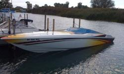 2005 Sunsation Dominator. 6.2 Mercruisers, IMCO hydraulic streeing,Silent choice exhaust, Mcleod interior, K planes, Mitcher T paint, Livorsi gauges. Strb. motor has under 100 hr's on new short block. New exhaust manifolds and risers on both engines. Both