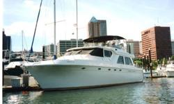 """This 1999 Navigator 5800 Is in Bristol Condition. Powered by twin Detroit Diesel engines, Upgraded Electronics Package, 18kw Genset, 11' Zodiak with Outboard, Large spacious interior with 17' 4"""" Beam. Master Stateroom with King sleeper, Queen Guest, and"""