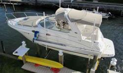 2005 Sea Ray 280 SUNDANCER Stored indoors until 12/11. Currently lift kept, in excellent condition including the carpet and canvas. Notable options include forward sunpad, underwater lights, upgraded stereo system and generator. Recent service work