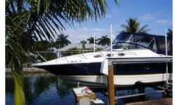 This Regal 2765 is a full-featured family cruiser with style, luxurious accommodations, and performance. She features a large open cockpit with ample seating and a spacious mid-cabin interior. Clean design and blue hull make her stand out in any marina.