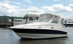 The Cruisers 280 CXI is a full-featured cruiser with style, luxurious accommodations, and performance. She features a large open cockpit with ample seating and a mid-cabin interior with 2 double berths. Whether you are planning a day on water or a weekend