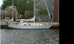 This 1971 Pearson 39, yawl / cutter rigged cruising sailboat is located in Mystic, Connecticut and is available for showing by appointment only.Numerous upgrades and truly a turnkey classic