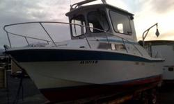 It has a custom allumnium top, hydraulic wheel, hydraulic pump, dickson marine stove, also a board warner gearbox, and a garmin gps and Sirius radio. This is a dependable sought after brand of boat that will last you for years and years, The condition of