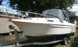 I have a 1984 renken cuddy cabin. It has a 1983 200 horse oil injected mercury runs great new lower unit and prop, Just installed FM/AM radio & cd player, cabin, has lights inside and out. Great family boat good for lakes and wakeboarding. CALL # NIB