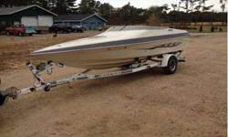 runs drives looks great cuddy for storage and sleeping clean fast boat in the water at my lake house trade for a bigger boat sea ray 30' plus cash on my side?? or someting similar330 hrs trailer included boat is near mint lowrance fish finder. 50mph5.7 v8