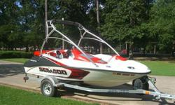 2007 SEA_DOO 150 Speedster that is in pristine condition!!! This boat only has 27 hrs on it and looks as good or better than one on the show room floor. It has the 215HP 4-stroke supercharged engine that is extremely powerful. It has never seen salt water