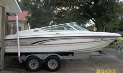 1999- 19ft Chaparral Speed-Ski Limited Edition 22 Ft Galvanized Tandem Trailer V-6 Vortec GM Engine Merc Cruise Stern Drive Recently replaced water pump, distributor cap, starter,carburetor, plugs, wires. coil. battery, and some upholstery. Starts good