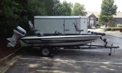 1989 Stratos Bass BoatJust had the floor redone and hull painted. Johnson 110, boat trailer, 2 fish finders, 4 new seats, etc.Message for more pictures/information. Thanks.