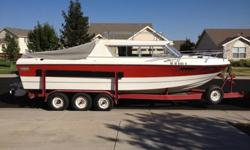 1978 Fiber Form 26Ft cabin cruiser with trailer needs a few tires dash has crack in it needs repaired but boat is in great shape rebuilt bottom ends winterized indoor storage twin v- 8 engines pures like kittens. contact Bobby 970 685 2503 or will trade