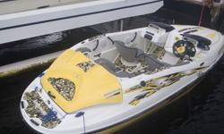 16 ft. - 1999 Seedoo Speedster has 4 passenger seating with new upholstery. Twin 170hp Bombardier Rotax Engines. With hydro turf. New AM/FM/CD SONY Marine Stereo with ipod connection. Sale of boat also includes a 17 ft trailer with anchor, lines and 4