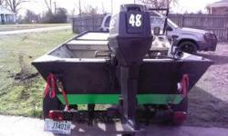 i have a lowe aluminum boat with a new model 48 horsepower evinrude,with bosen power reeds runs well selling cause want a pontoon boat have babies.has a 75 gallon custom live well made from a diamond plate.front storage chamber and bilge pump everything