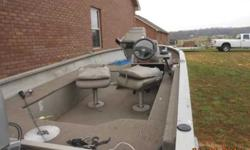 Here is a great running 98 tracker super v sixteen with a 2005 honda 50 horsepower honda 43lb foot controlled trolling engine and two depth finders $5200 cash calls only 270-723-4776Listing originally posted at http