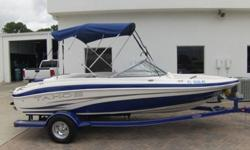 This is one of the cleanest trades i have seen. The original owner stated he didnt use the boat more than 6 or 7 times but it was a fantastic boat. Probably around 25 hours but no hour meter. The boat shows like new. Comes with the upgraded 4.3liter 190