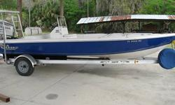 2006 MODEL SEA CHASER 200 FLATS SERIES BY CAROLINA SKIFF....THIS BOAT HAS SEEN VERY LITTLE USE WITH ONLY 68 HOURS ON THE BOAT AND MOTOR....EVERYONE WHO RESEARCHES AND TEST THESE BOATS GIVES THEM THE OLD THUMBS UP AND FOR GOOD REASON....THEY HANDLE LIKE A