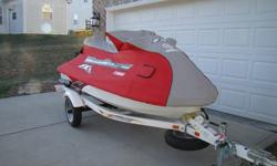 2004 FX Cruiser HO, 160 HP, 3 seats, tilt handle bar, adjustable trim, reverse; true 60 mph ski! An average ski gets 30 to 40 hours per year. An average 2004 should have between 210 and 280 hours of use. The picture below shows only 113.7 hours! Includes