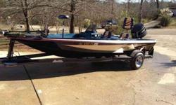 Super clean 17ft bumble bee with around 150 hrs a boat mechanic said,90 psi on all six cylinders.12/24 VOLT trolling engine.original tires still on trailer spare never pre-owned.live well pumps work,boat always indoor stored,you can look at boat and see