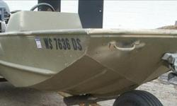 Great all around boat Fishing or hunting. The boat has the standard bench seating with some upgrades such as carpeted flat floors, 2 seats, oars. Powered by a 30hp Evinrude. Boat is in good condition and is ready to hit the water.Trailer has load guides