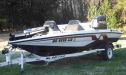1995 Nitro Bass Boat 17 1/2ft Rick Chun edition with trolling engine, fish finder, White, red & black. Pretty boat $5500.00 OBO 803-522-5910 .See item listed at http