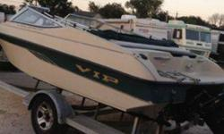 I'm selling a 1995 VIP valiant. It has a 4.3 liter engine very economical and runs good. Has a resent tune up and oil change. Also has a beami top. This boat has been kept up to date and in a storage. I just don't have anymore time to ride. Im asking