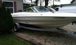 18 ft bayliner capri. trailer, 90 horse mercury force. Boat is a 8* on condition.I mean clean. Life vests , pull tube. Located in Dover, Ohio. Call 330-284-3429 for more info.