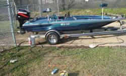 AVENGER 18.5 feet X seven feet BASS BOAT............For information Call $5,500. 00 OBO...........HAS NEW CARPET, CUSTOM SEATS, NEW LIVE WELL PUMPS, NEW RUNNING LAMPS, ALL NEW TOGGLE SWITCHES, NEW HOT FOOT, NEW ON BOARD CHARGER-3 BANK, NEW BATTERIES,NEW