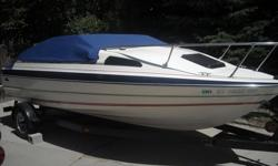 Will accept best offer. All new carpet, upholstery and much more.19.5 ft. Bayliner Cuddey-Cab. It is a Cabin Cruiser. It has been fully updated with a new Fuse Box and up-To-Date wiring. 5.0 Volvo Penta Inboard/Outboard has plenty of power, over 275 H.P.