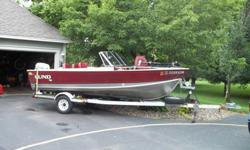 Great Condition 1988 Lund Rebel Special - Strong Runner. Deep V with 88 HP Johnson outboard. Minnkota electric trolling motor. Live well with aerator. Lowrance GPS and fish finder. Set-up for kicker motor. Separate batteries for main motor and trolling