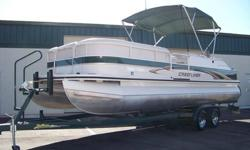 THIS IS A BEAUTIFUL, TOP OF THE LINE, 2005 25 FOOT PONTOON BOAT BUILT BY CRESTLINER. IT IS THE 2485 LSI ANGLER EDITION WITH ALL THE OPTIONS. IT IS READY TO GO...SO WHY PAY FOR A NEW ONE? THIS PONTOON BOAT RUNS AND HANDLES EXTREMELY WELL. THE SIDES ARE A