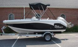 UP FOR AUCTION IS A VERY NICE 2008 CAROLINA SKIFF SEA CHASER FISHING BOAT. IT IS A 1900 SERIES, 19FT BOAT. IT IS IN EXCELLENT CONDITON. ALL OF THE WHITE AND BLACK GELCOAT SHINES LIKE NEW. THE MOTOR IS A 150 HONDA FOUR CYLINDER FOUR STROKE. IT HAS A