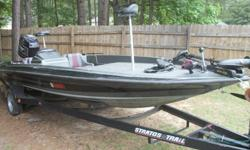 REDUCED!!!!!! Stratos 21 foot Bassboat with a Johnson 200Hp motor. Extra Clean, and Excellent compression, with the Hot Foot. Ranger Carpet, Minnkota 70lbs thrust trolling motor. New Interstate Batteries. Two new swivel seats. She won't last, it's ready