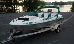 2000 SEA-DOO CHALLENGER jet boat. Trailer, Bimini, OEM cover, and more. Priced below NADA values.Includes:Bimini topMarine batteryOEM color matched full length storage coverSingle axle trailer with 4 fender step plates and extra spare tireFire