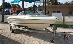 3L Mercruiser 130HP, Bimini, Full storage cover, Coast Guard Equipment and Trailer. Well maintained boat.