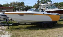 350HP Mercruiser with Alpha I Drive, Tandem steel trailer, New Paint new upholstry. Engine is very clean