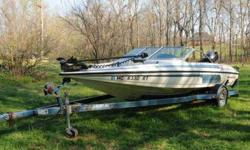 Clean '91 Javelin Fish & Ski, 389 Model, great running 150 Evinrude. New minn kota trolling motor with Co Pilot, and Lowrance LMS-337 GPS/fish finder. Original owner. Barely used.
