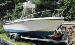 1989 21' Mako 211Two outboard engines; 175 HP Yamaha, 9.9 HP Yamaha, 1988 Shoreline tandem trailer, Marine Radio, Set up for offshore fishing, Bottom painted, Clean boat$5900 or BO