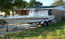 This ranger 2300 is equipped with a 225 mercury optimax the motor is an 03 with brand new powerhead June '09 with a 6 month warranty. The reciept will also be available for proof. Also A Brand New Lower Unit with a 3 yr warranty. both have about Fourty