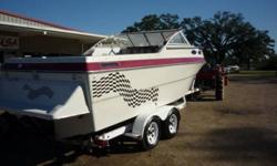 OBO. POWERED WITH 5.0LIT V8 220HP I/O AND TRAILER. This boat runs great and is ready to go.