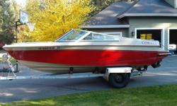 amazing family boat - BRAND NEW upholstery; new canvas covers for bow and cabin; ONLY 391 HOURS; perfectly maintained; CD Stereo; 4.3 LitER MerCruiser